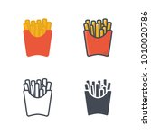 french fries flat silhouette... | Shutterstock .eps vector #1010020786