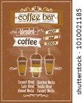 coffee bar menu hand drawn...   Shutterstock .eps vector #1010021185