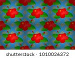 traditional indian floral... | Shutterstock . vector #1010026372