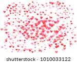 vector pink  red valentines... | Shutterstock .eps vector #1010033122