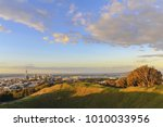 mt eden crater and view to... | Shutterstock . vector #1010033956