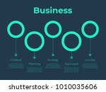 futuristic infographic template ... | Shutterstock .eps vector #1010035606