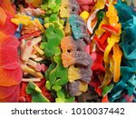 assortment of colorful candies...   Shutterstock . vector #1010037442