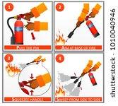 fire extinguisher instruction... | Shutterstock . vector #1010040946