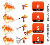 fire extinguisher instruction... | Shutterstock . vector #1010040952
