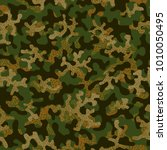 camouflage pattern. seamless.... | Shutterstock .eps vector #1010050495