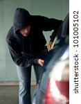 car thief | Shutterstock . vector #101005102