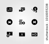 buttons vector icon set. credit ... | Shutterstock .eps vector #1010055238