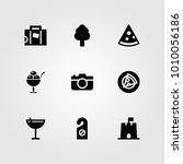 summertime vector icon set....   Shutterstock .eps vector #1010056186