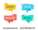 flat linear promotion ribbon... | Shutterstock .eps vector #1010058676