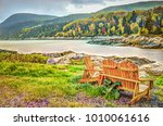 port au persil beach in quebec  ... | Shutterstock . vector #1010061616
