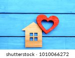 Wooden House And Red Heart On ...