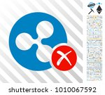 ripple reject pictograph with... | Shutterstock .eps vector #1010067592