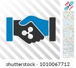 ripple contract hands... | Shutterstock .eps vector #1010067712