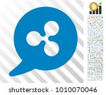 ripple message balloon... | Shutterstock .eps vector #1010070046