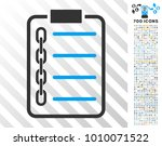 blockchain contract icon with 7 ... | Shutterstock .eps vector #1010071522