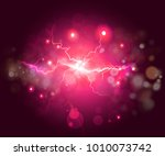 plasma or lightning fractal ...   Shutterstock . vector #1010073742