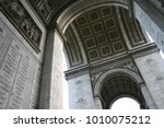 under the arc de triomphe with... | Shutterstock . vector #1010075212