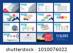 presentation template with... | Shutterstock .eps vector #1010076022