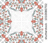 floral pattern for invitation... | Shutterstock .eps vector #1010080702