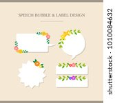 speech bubble and label design | Shutterstock .eps vector #1010084632