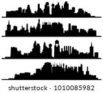 modern urban city of... | Shutterstock .eps vector #1010085982