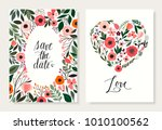 Save The Date Floral Cards Set...