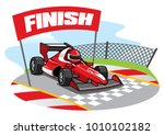formula racing car reach the... | Shutterstock .eps vector #1010102182