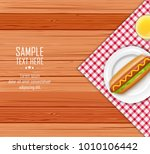 fast food with lettuce and... | Shutterstock .eps vector #1010106442