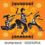 dancing figures | Shutterstock .eps vector #101010916