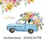 watercolor valentine's day... | Shutterstock . vector #1010116798