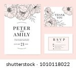 wedding invitation card... | Shutterstock .eps vector #1010118022