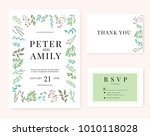 wedding invitation card... | Shutterstock .eps vector #1010118028