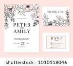 wedding invitation card... | Shutterstock .eps vector #1010118046