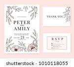 wedding invitation card... | Shutterstock .eps vector #1010118055