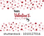 happy valentine day with... | Shutterstock .eps vector #1010127016