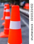 orange traffic cones in the... | Shutterstock . vector #1010131432