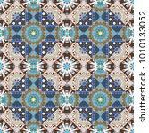 cotton or silk headscarf ... | Shutterstock .eps vector #1010133052