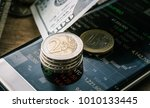 financial and stock market on... | Shutterstock . vector #1010133445
