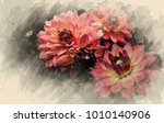 flower on black flower design | Shutterstock . vector #1010140906