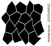black and white irregular grid  ... | Shutterstock .eps vector #1010149012