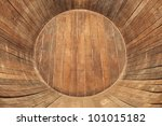 Inside Of Wooden Barrel