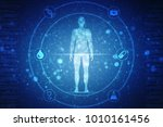 2d illustration human male... | Shutterstock . vector #1010161456