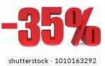 minus 35 percent off 3d sign on ... | Shutterstock . vector #1010163292