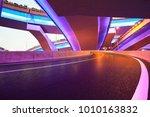 the purple blue led landscape... | Shutterstock . vector #1010163832