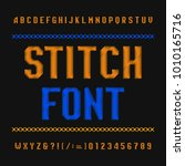 stitch alphabet font....   Shutterstock .eps vector #1010165716