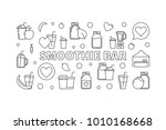 smoothie bar concept horizontal ... | Shutterstock .eps vector #1010168668