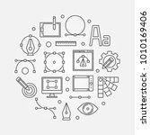 graphic design concept line... | Shutterstock .eps vector #1010169406