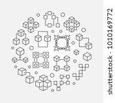 block chain technology circular ...   Shutterstock .eps vector #1010169772