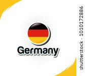germany national flag icon... | Shutterstock .eps vector #1010172886